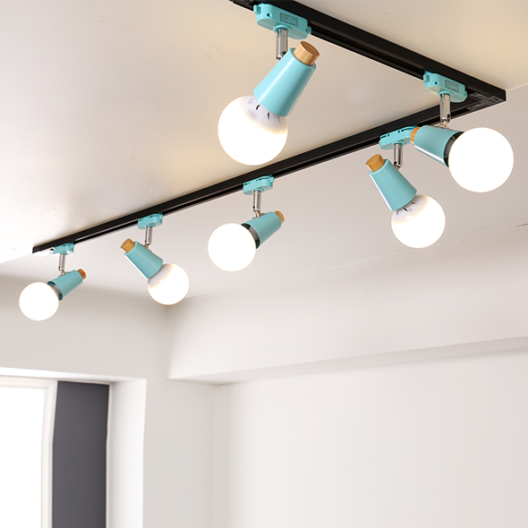 레일조명 레일조명세트 우드그라시아 식탁등 카페조명 LED겸용 식탁, 스카이 SET.04 6등 ㄱ자형 구성세트