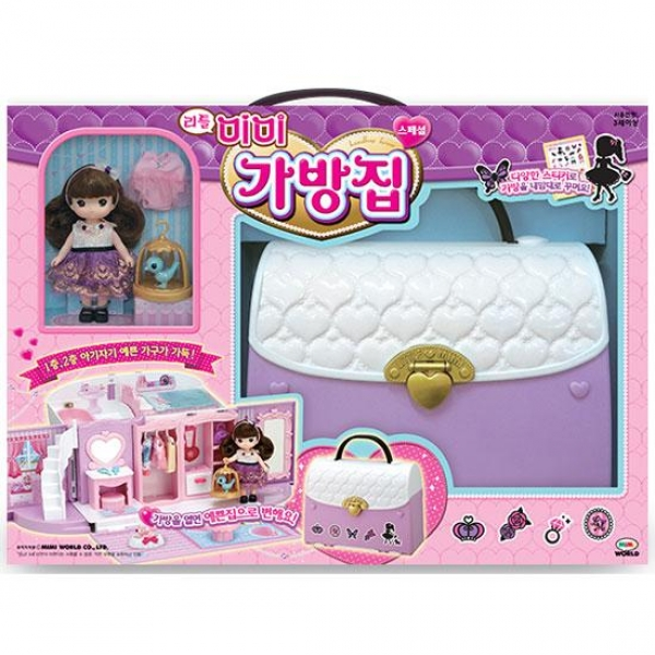 리틀 미미 가방집 스페셜 여아 핸드백 인형의집 장난감