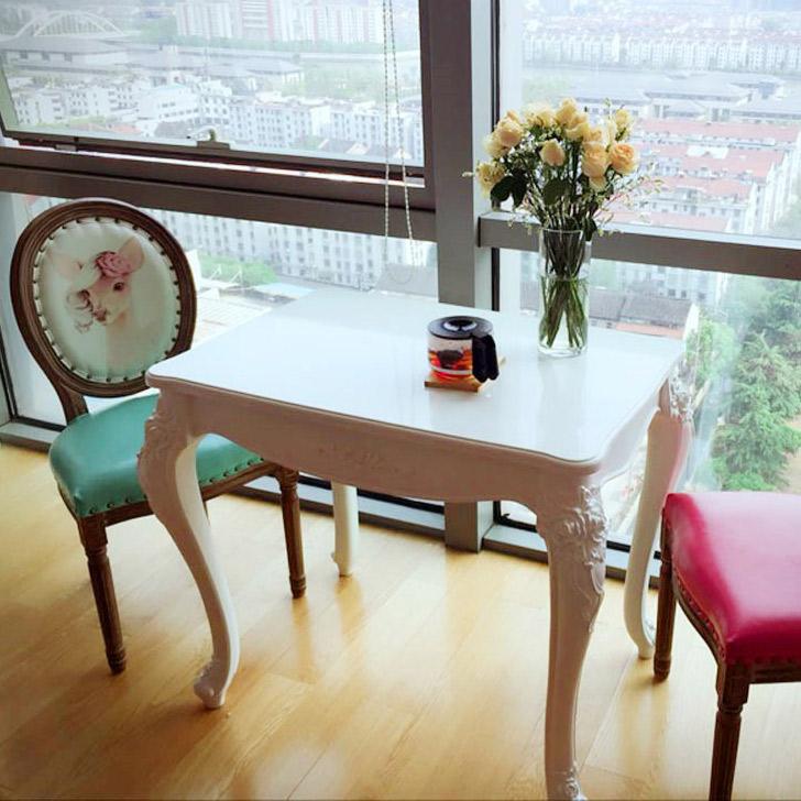 루이송 비앙카 화이트 2인용 4인용 식탁 테이블(의자별매), 비앙카2인식탁