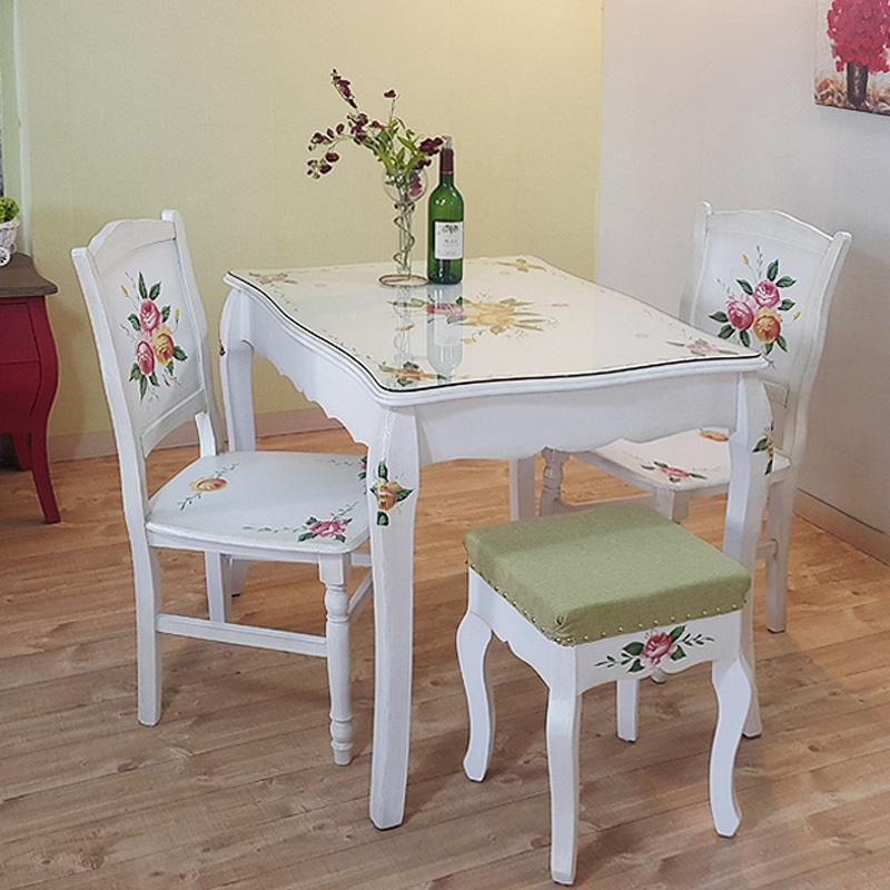 루이송 포크아트 유화그림 빅토리아 2인용 4인용 식탁 테이블 (의자는 불포함), 상판유리포함빅토리아2인식탁(의자불포함)