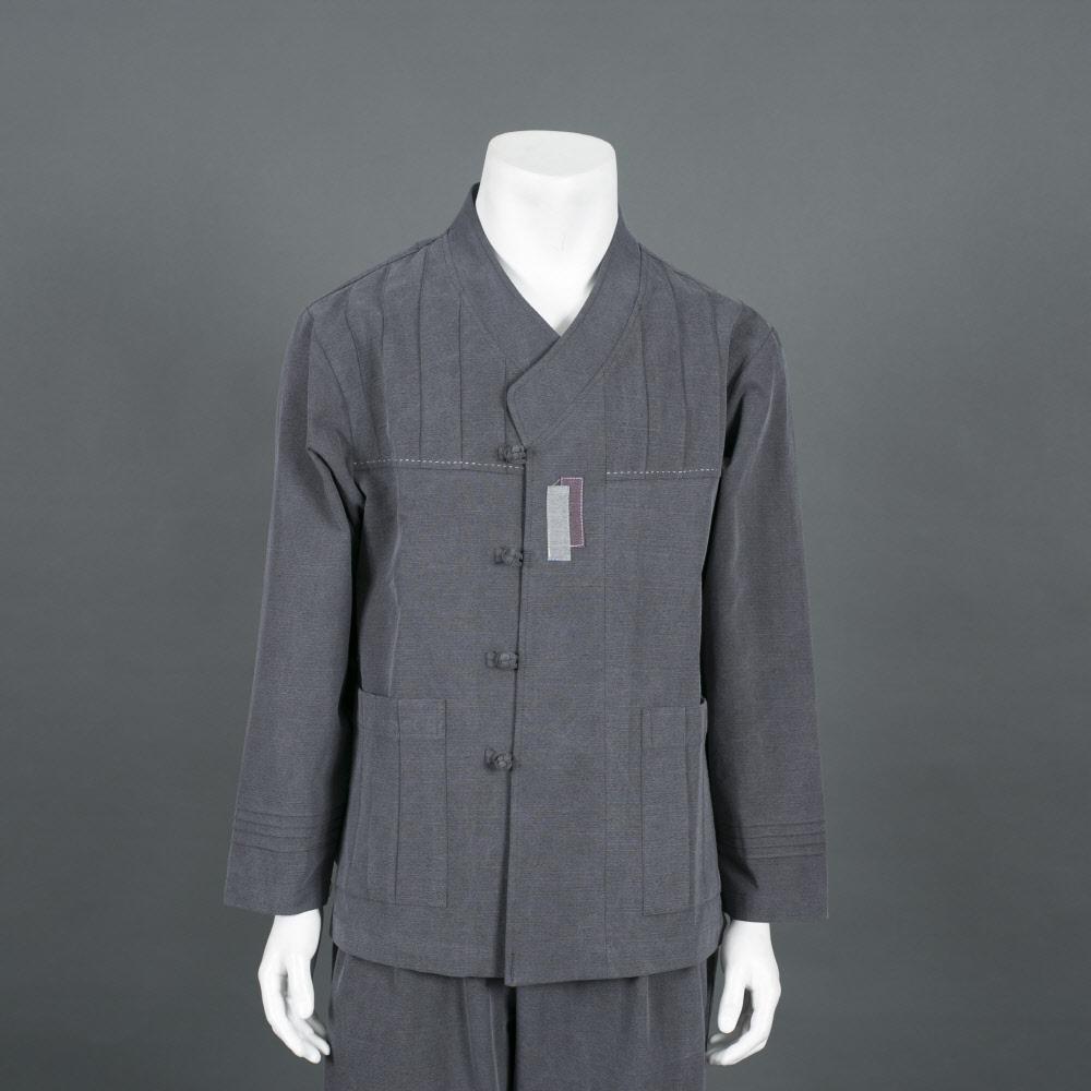 부국사임당 남성 면 선염 슬라브 내림깃 바지 저고리 생활한복(개량한복)