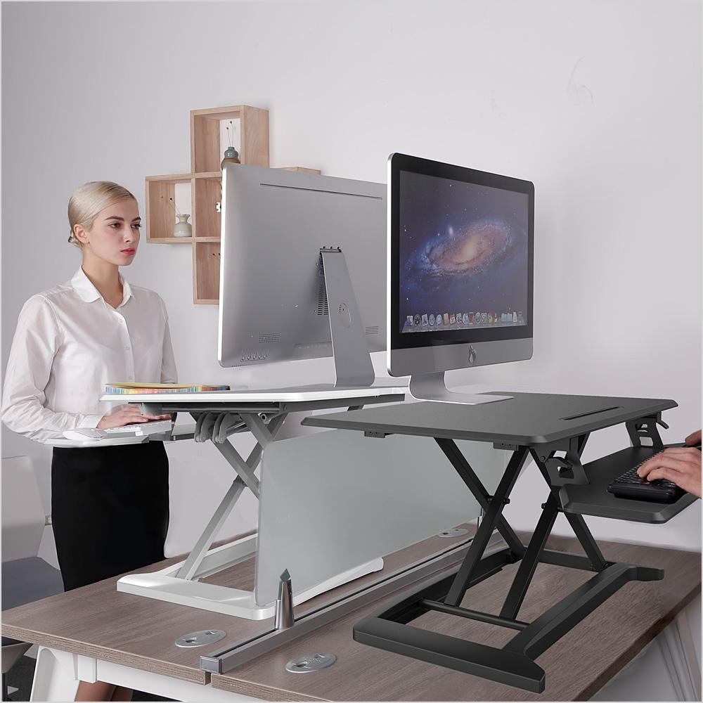 스파인데스크 높이조절 책상 스탠딩책상, Y5-화이트