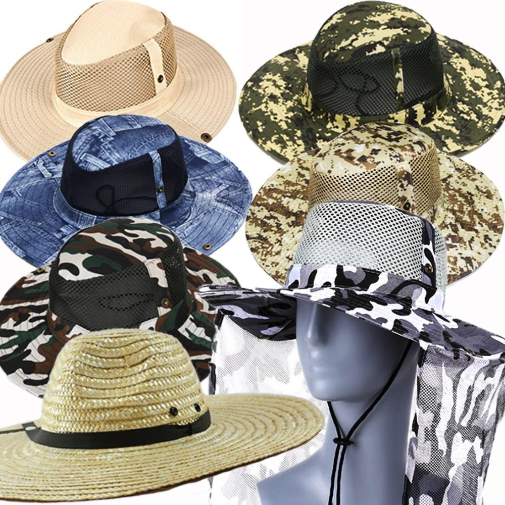 라이팩 사파리 정글모자 등산 밀짚 모자