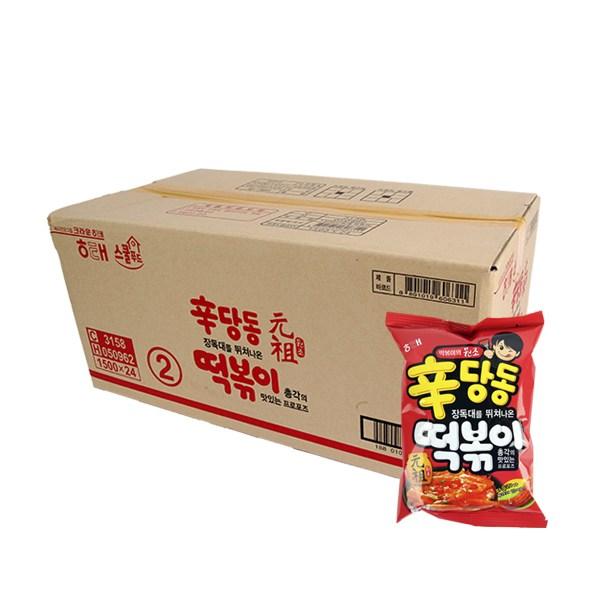 해태 신당동떡볶이110g(24개) 과자 봉지과자 인기과자 간식 과자박스, AJV_해태 신당동떡볶이110g(24개)