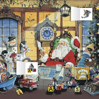 Letter to Santa Advent Calendar (with Stickers) Other, Flame Tree Publishing