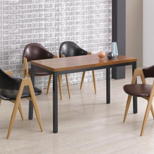 와이디 업소용 테이블 카페 식탁, 02.빈티지테이블(멀바우)_1200x600 (YWD3031-BK)