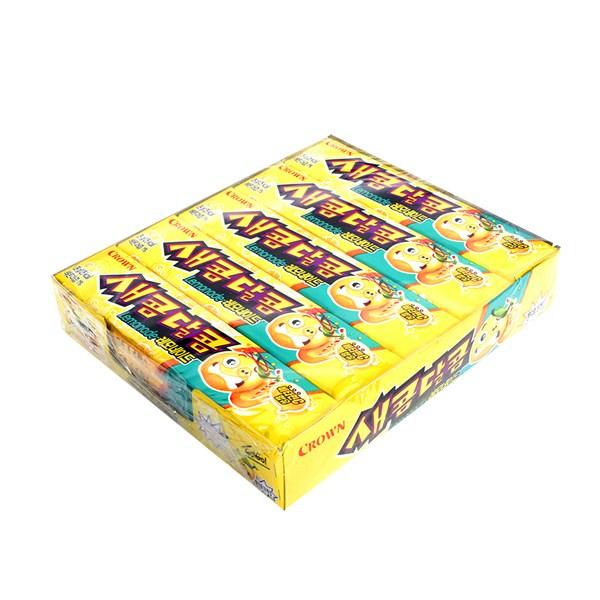 크라운 새콤달콤레몬 29g 15입 X 2 식품 과자 음식 캬라멜 간식 마이쮸