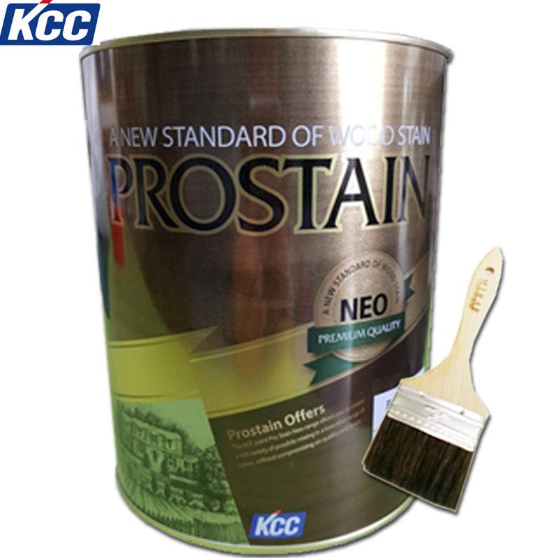 KCC 프로스테인 네오 3.6L 오일스테인 목재보호 발수 방충, PC100(투명)