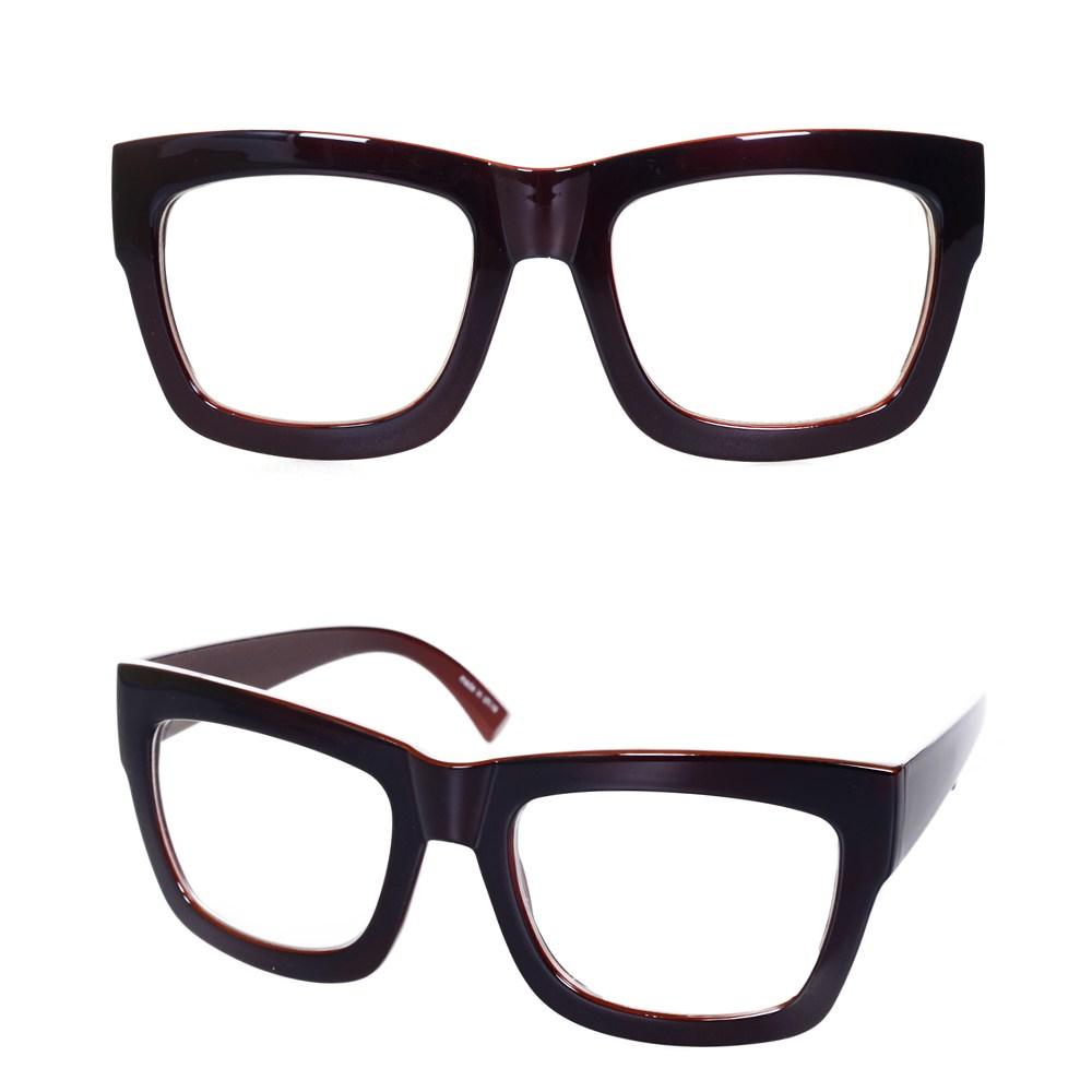 나야스타일 오버사이즈 뿔테 안경