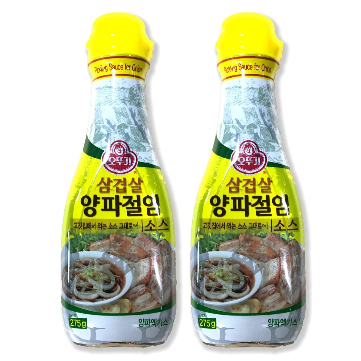 오뚜기 삼겹살 양파 절임 소스, 275g, 2개