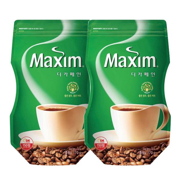 맥심 디카페인 커피 리필용(백) 170gx2개, 170g, 2팩