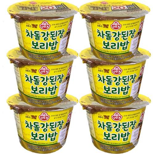 오뚜기 컵밥 차돌강된장 보리밥 280g, 6개