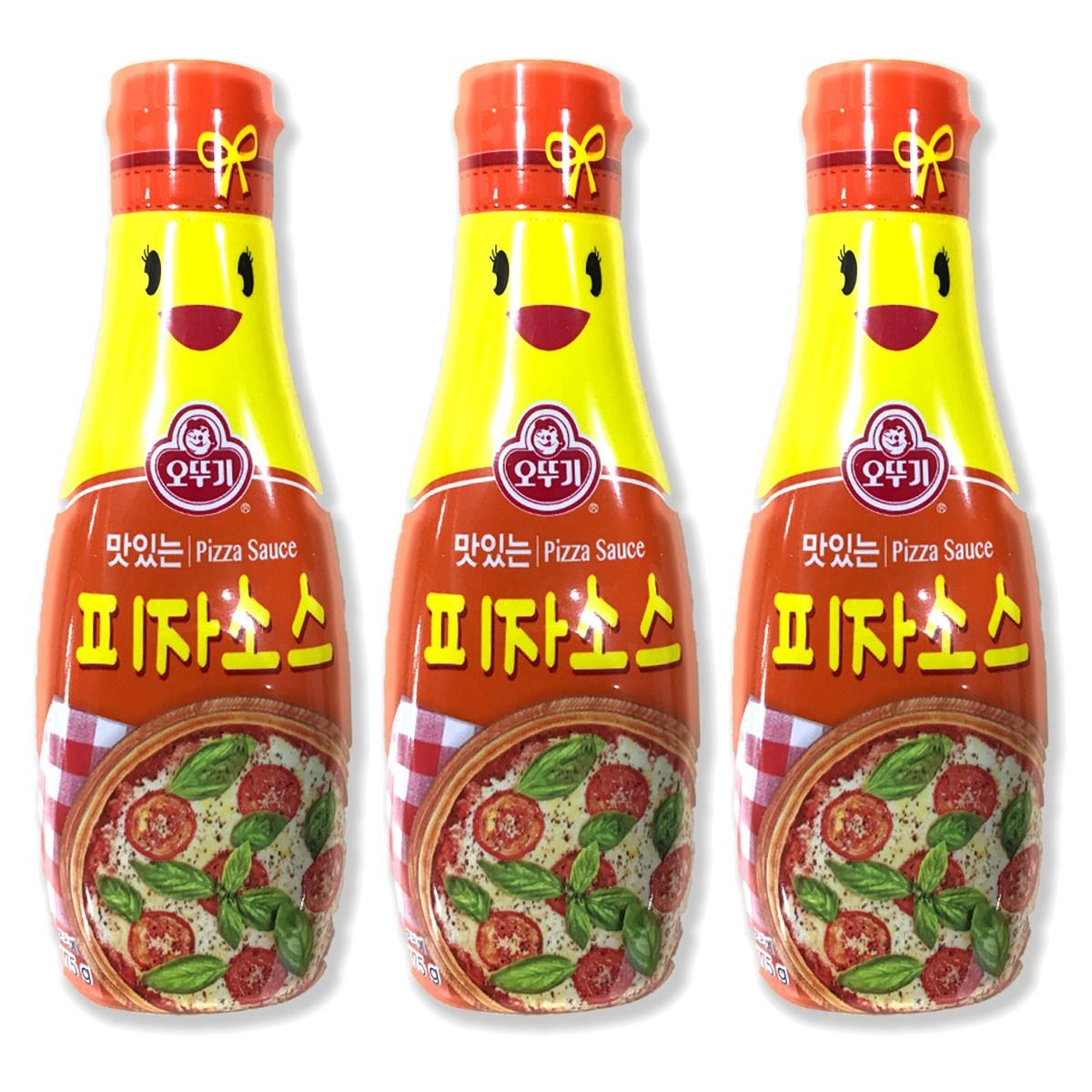 오뚜기 피자 소스 3개(175g*3개)샐러드드레싱 발사믹액상페퍼 요리양념, 175g, 3개
