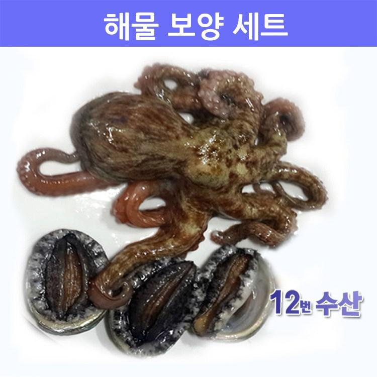 통영12번수산 생물 해물 보양세트, 1봉, 문어+전복 세트
