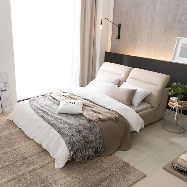 리바트온라인 뉴트 리클라이닝 가죽 퀸 침대(엔슬립 E1 Q), 그레이