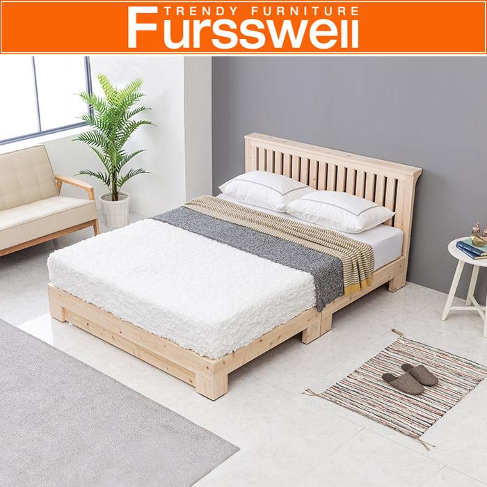 퍼스웰 히노끼 편백나무원목 침대프레임.퀸(RV_081), 단일상품