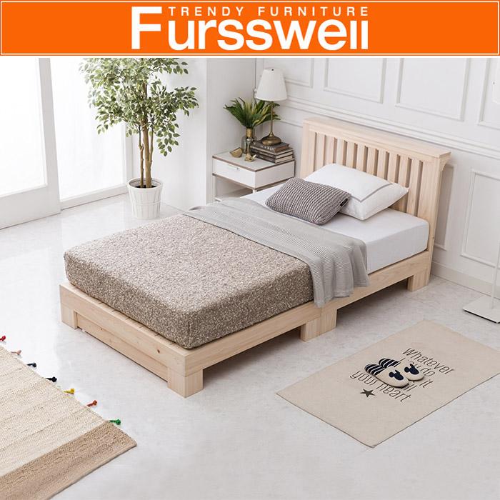 퍼스웰 히노끼 편백나무원목 침대프레임.슈퍼싱글(RV_080), 단일상품