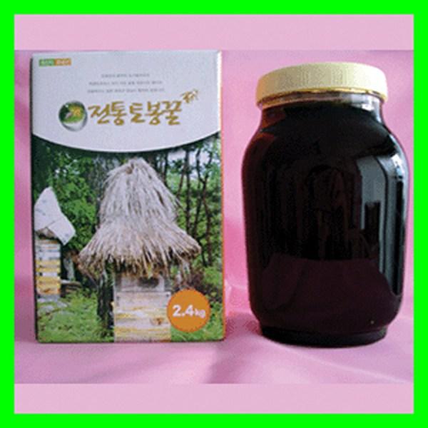 지리산뱀사골토종꿀영농조합/한봉 벌꿀 토종꿀 유리병2.4kg, 2.4kg, 1병