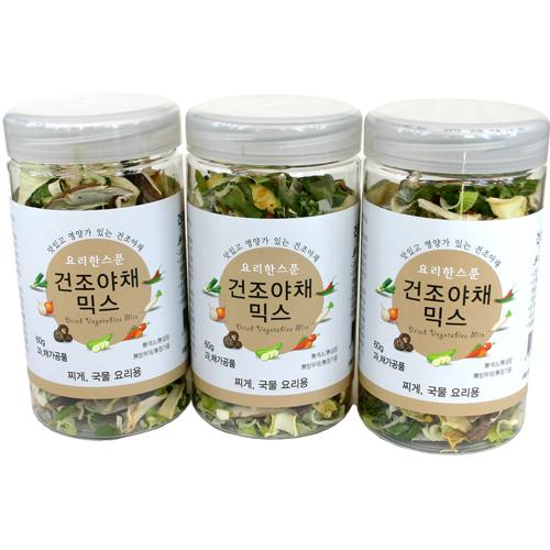 요리한스푼 건조야채믹스60gX3묶음(찌게 국물요리용), 3개