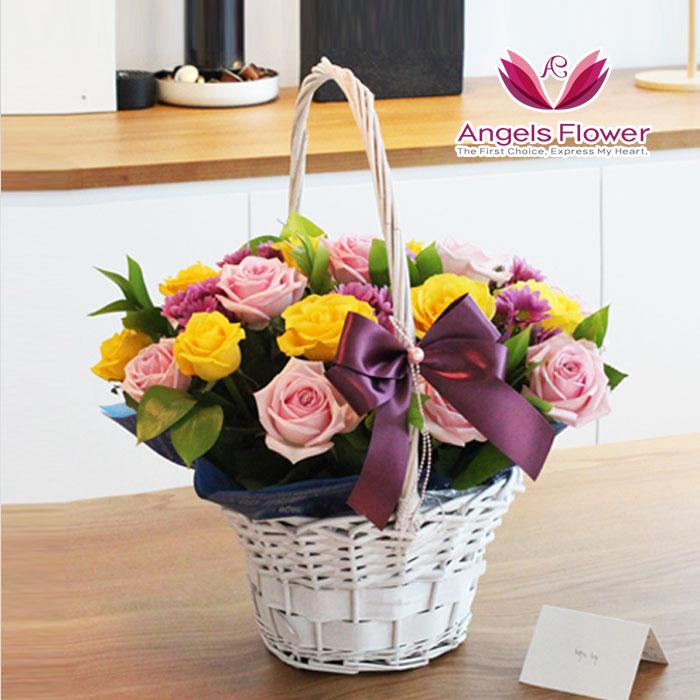엔젤스플라워 전국 카네이션 꽃배달서비스 어버이날 스승의날 가정의달, C05_일반형_러블리핑크 꽃바구니, 1개