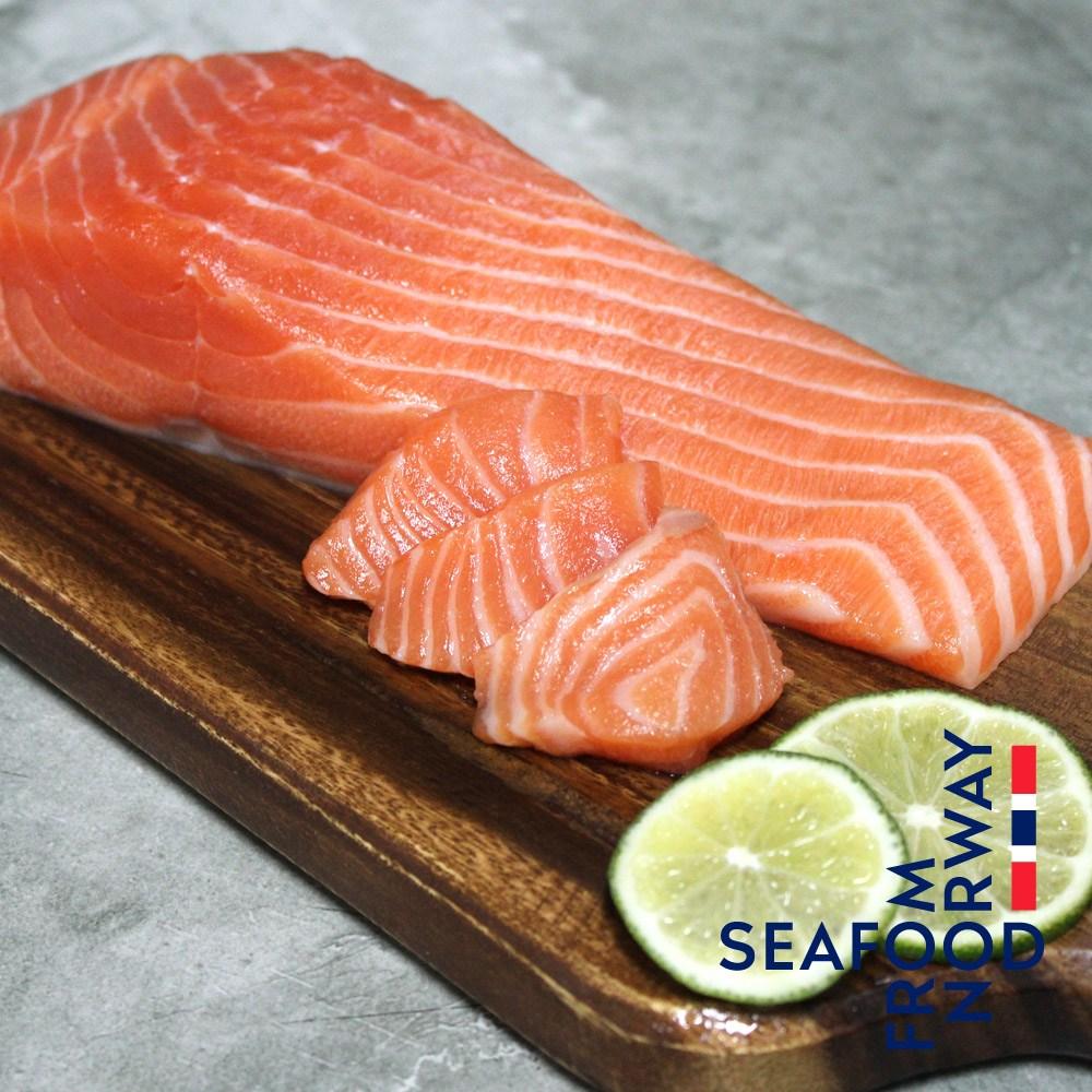 바른씨 노르웨이 슈페리어급 생연어 실중량 500g (몸+뱃살) 연어회 연어구이, 1개