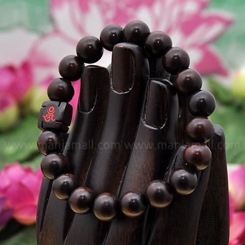 만자몰 NHG-7벽조목 만자모주 옴자 불교염주팔찌 불교용품