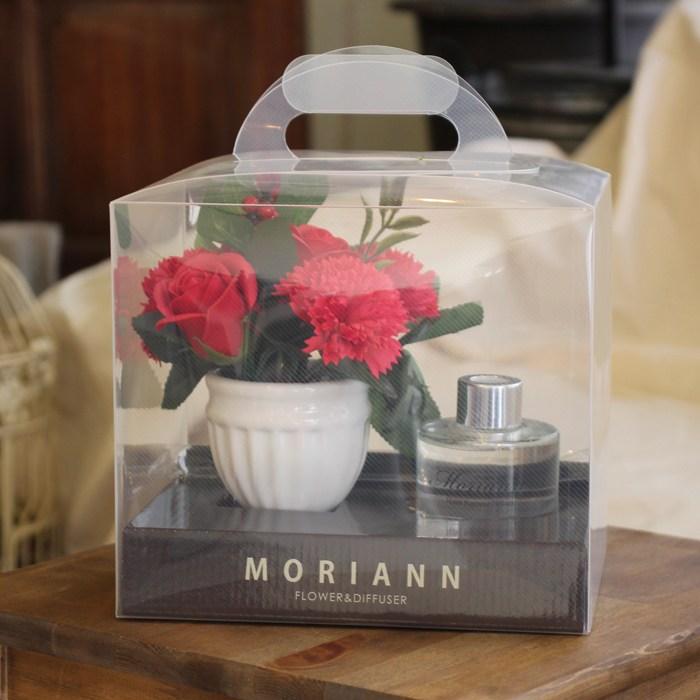모리앤 [모리앤]카네이션 디퓨저 선물세트 감사의 마음선물, 레드+디퓨저(컨베이러브향)