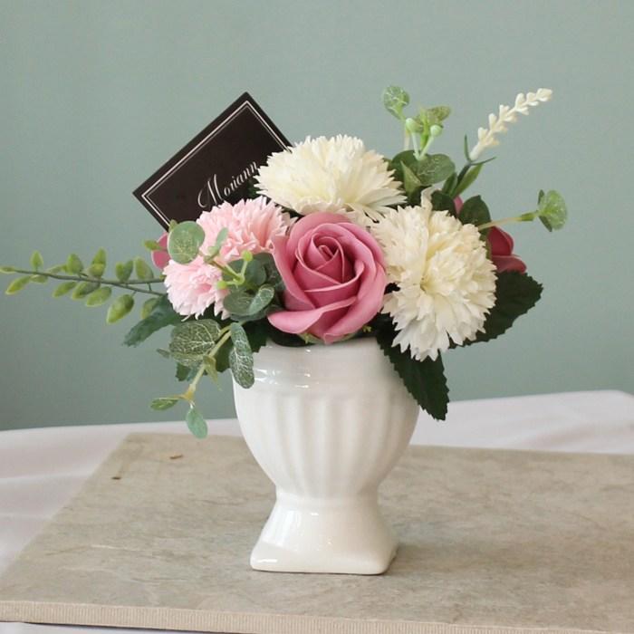 모리앤 [모리앤]빅토리아 센터피스 카네이션 비누꽃선물, 인디핑크