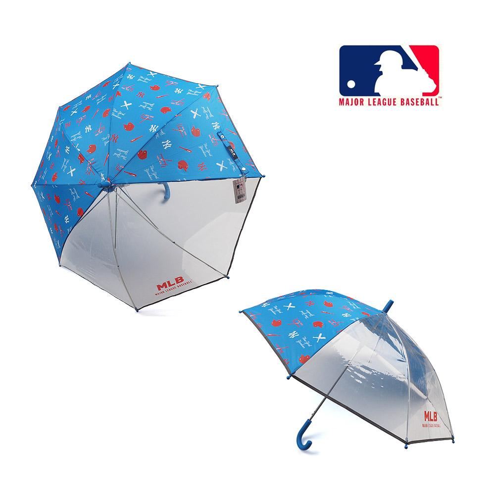 [핫딜]  MLB 키즈 55 아동우산 NY 헬멧패턴 3폭투명 장우산 패션우산 블루 추천!