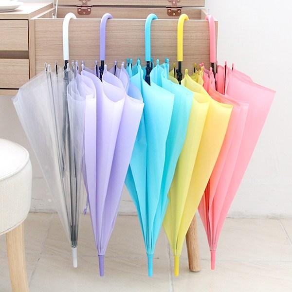 지엘스타 자동 투명비닐우산 파스텔 장우산