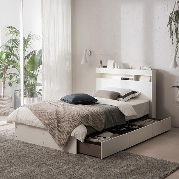 리바트온라인 필로시 멀티수납 슈퍼싱글 침대(엔슬립 E4 SS), 화이트
