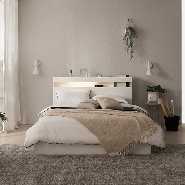 리바트온라인 필로시 퀸 침대(엔슬립 E4 Q), 화이트