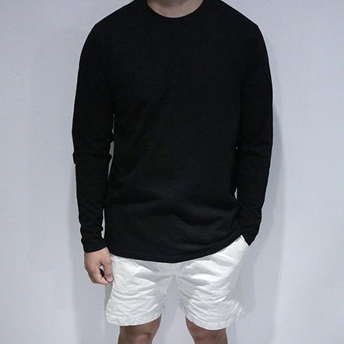데로샵 [5컬러] RS 라운드남자 기본 슬라브 긴팔 티셔츠