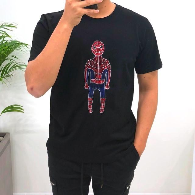 고천 스파이더맨 자수 티셔츠