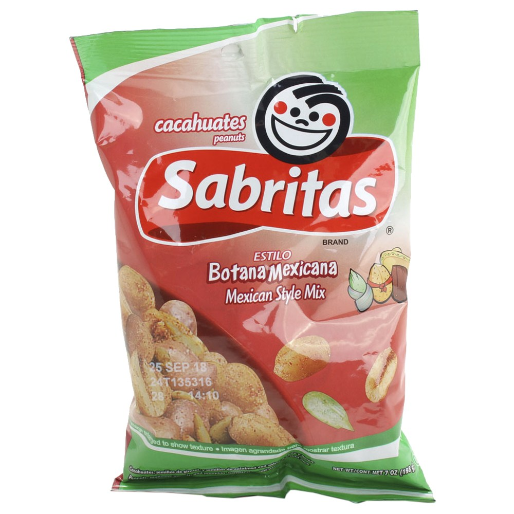 사브리타스 카카후아테스 피넛 보타나 멕시카나 스타일 믹스, 1개, 198g
