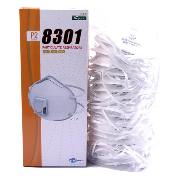 파인텍 방진마스크 1급 배기밸브 국산 1박스 20개 EV-8301 분진 일회용