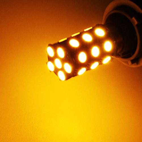 하이브리딘 27LED 프리미엄 시그널램프 방향지시등 깜빡이, 더블 옐로우, 1개
