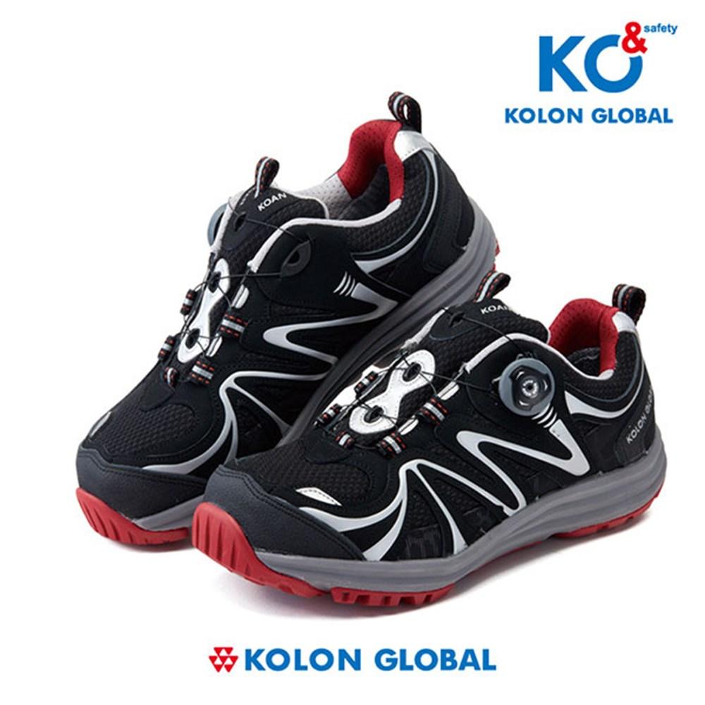 코오롱 KG-45 4인치 다이얼안전화, 검정+은색, 230