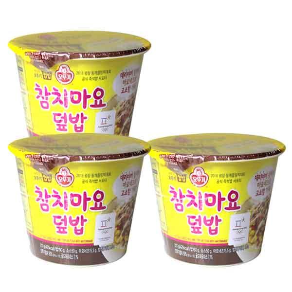 오뚜기컵밥 참치마요덮밥 217g, 3개