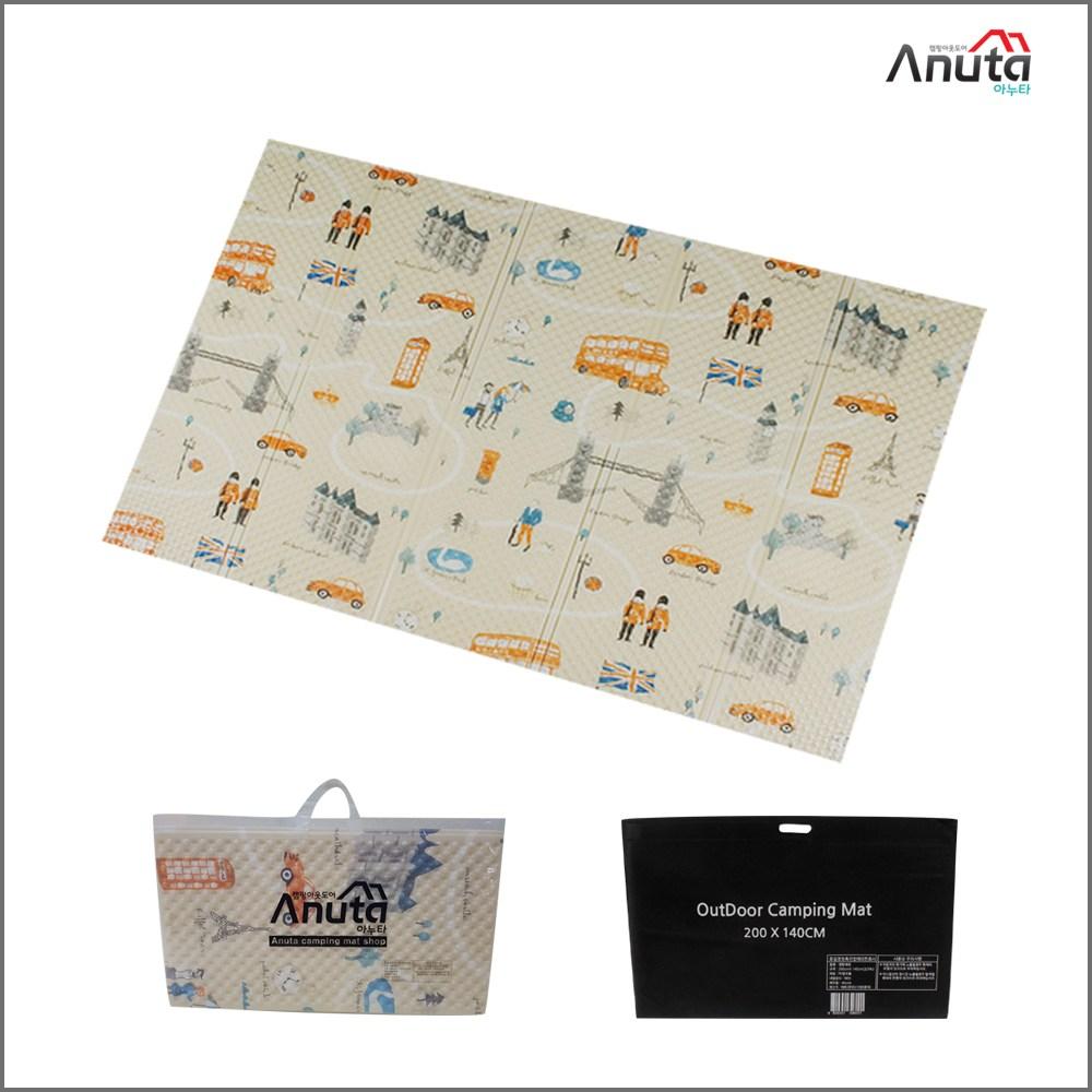 아누타 캠핑매트 텐트매트 피크닉매트, 랜드마크(엠보2단)-아이보리
