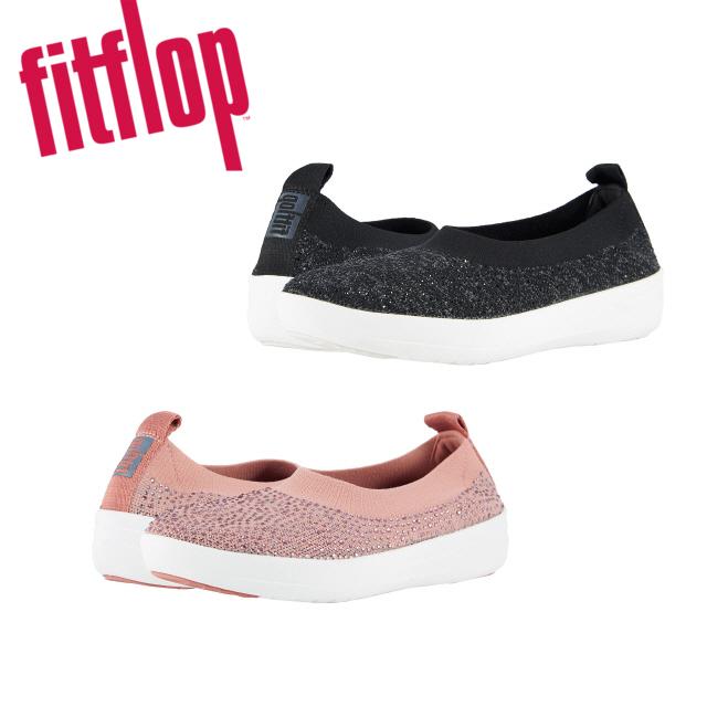 핏플랍 [Fitflop] Uberknit Slip-on Ballerina Crystal 여성단화