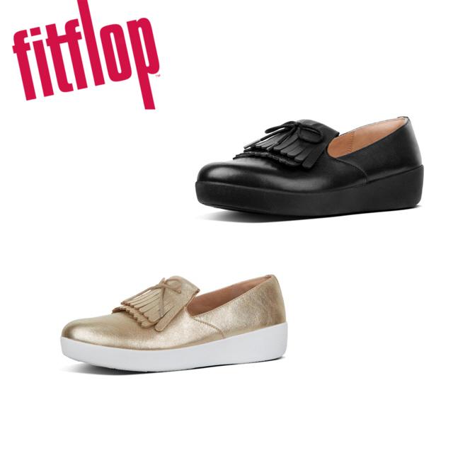 핏플랍 [Fitflop] Superskate Fringe Black 여성단화