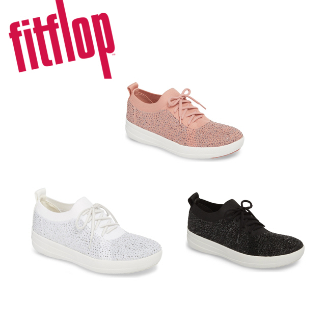 핏플랍 [Fitflop] F-Sporty Uberknit Sneaker Crystal 여성단화