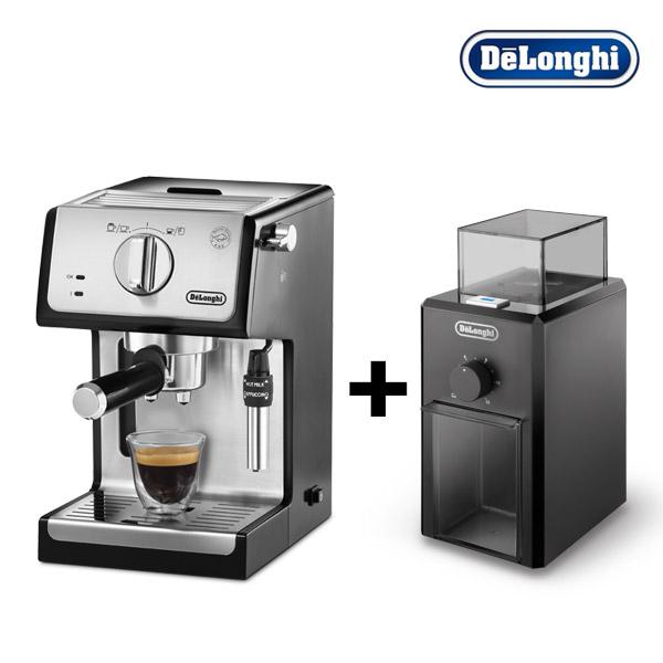 드롱기 반자동 커피머신 ECP35.31 +커피 그라인더 KG79