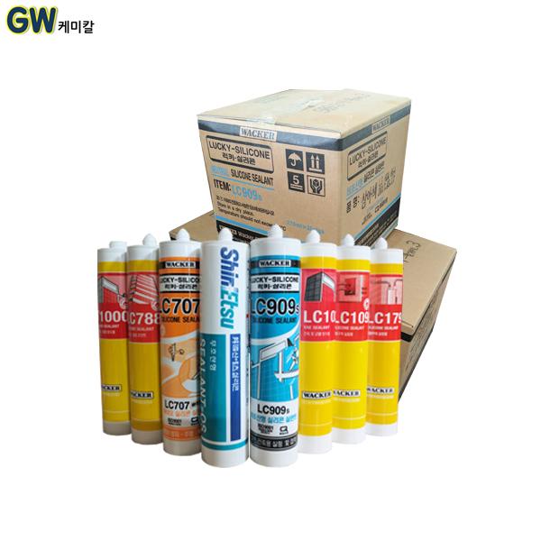 바커 무료배송 럭키비초산 바이오 실리콘 한박스, T1000 우레탄 실리콘 25개 한박스 백색