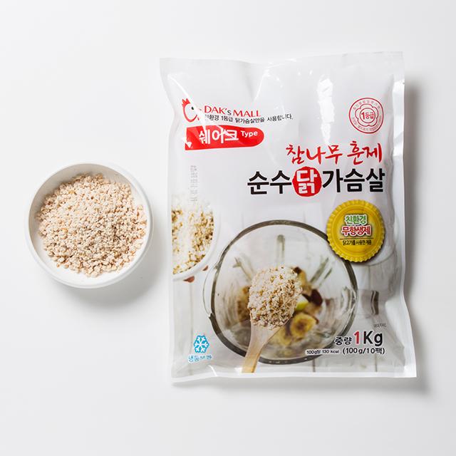 더착한가게 [e조광식품] 친환경 무항생제 훈제 닭가슴살 쉐이크, 1kg, 1박스