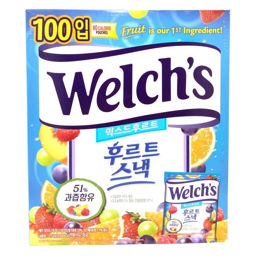 웰치스 믹스드 후르츠 젤리 100봉 2.5kg | Fruit Snack, 1박스