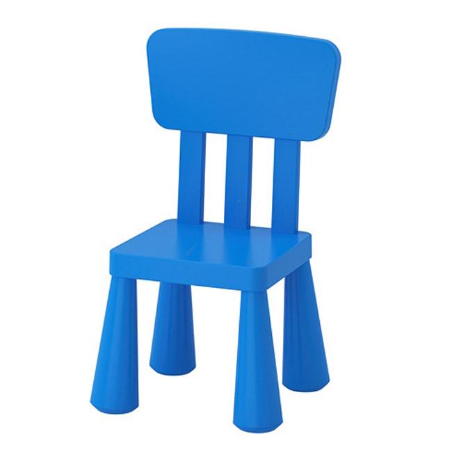 [이케아] MAMMUT 등받이의자, 블루