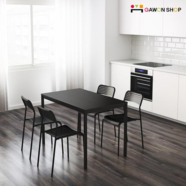 이케아 TARENDO 4인용 테이블 식탁, 블랙