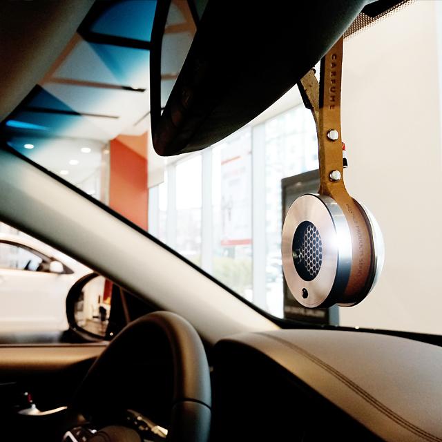 카퓸 2018 명품스와로브스키 크리스탈 걸이형 차량용 방향제 디퓨져, 1개, 블루 듀